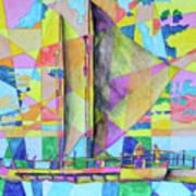 Sail Away Sunset Art Print
