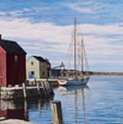 Sail Boat At Rockport Art Print