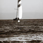 Sail Boat Coming Ashore 2 Art Print