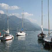 Sail Boats, Lake Como, Italy Art Print