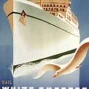 Sail White Empress To Europe - Canadian Pacific - Retro Travel Poster - Vintage Poster Art Print