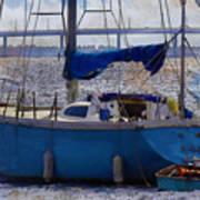 Sailboat And Dingy Art Print