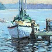 Sailboat At Rest Art Print