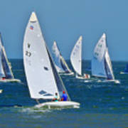 Sailboat Championship Racing 2 Art Print