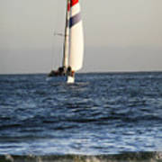 Sailboat Coming Ashore 1 Art Print
