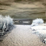 Sailboat Entry Infrared Brown Art Print by John Rizzuto
