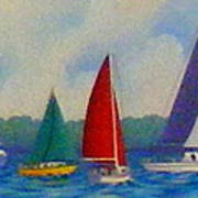 Sailboat Fiesta II Art Print