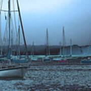 Sailboat Harbor Art Print