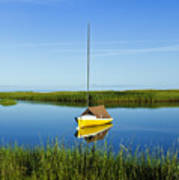 Sailboat In Cape Cod Bay Art Print