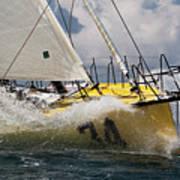 Sailboat Le Pingouin Open 60 Charging  Art Print