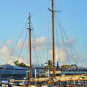 Sailboat, Mast, And Sails Art Print