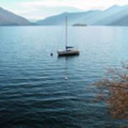 Sailboat On Lake Maggiore Art Print
