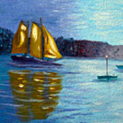 Sailboat-  Sailing- Come Sail Away Art Print