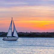 Sailboat Sunset Art Print