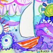 Sailboat With Sun Art Print