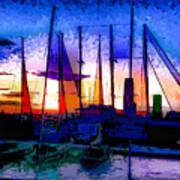Sailboats At Rest Art Print