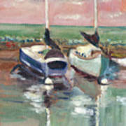 Sailboats In Lahaina Art Print