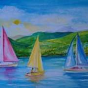 Sailboats Art Print