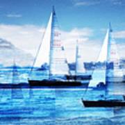 Sailboats Print by MW Robbins