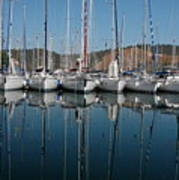 Sailboats Reflected Art Print