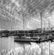 Sailer's Delight Black And White Art Print
