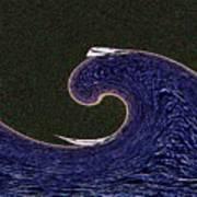 Sailin The Wave Art Print