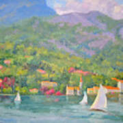 Sailing - Lake Como Art Print
