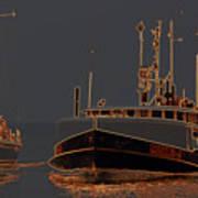 Sailing And Fishing 2 Art Print