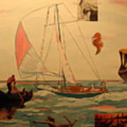 Sailing and other boats Art Print