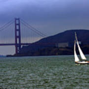 Sailing And The Golden Gate  Art Print