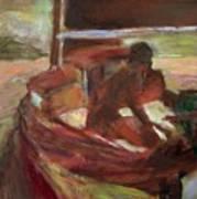 Sailing At Dusk Art Print