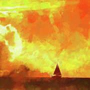 Sailing Away From The Sun Art Print