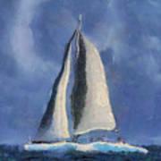 Sailing Away Art Print