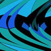 Sailing Blue - Left Art Print