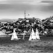 Sailing Boat  Black-and-white Art Print