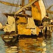 Sailing Boat On The Canale Della Giudecca Art Print
