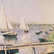 Sailing Boats At Argenteuil Art Print