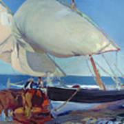 Sailing Boats Art Print by Joaquin Sorolla y Bastida