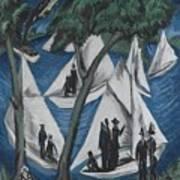 Sailing Boats Near Grunau Art Print