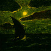 Sailing By Moonlight Art Print