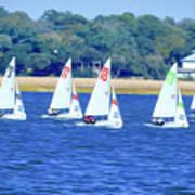 Sailing Charleston Harbor Art Print
