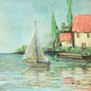 Sailing Day After Monet Art Print