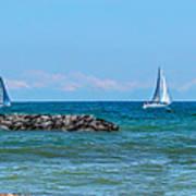 Sailing Days On Lake Erie Panorama Art Print
