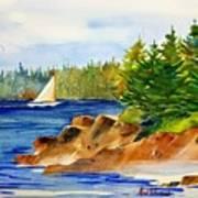 Sailing Downeast Art Print