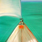 Sailing Art Print by Gina De Gorna