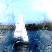 Sailing In Boston Harbor Art Print