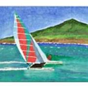 Sailing In Hawaii Art Print