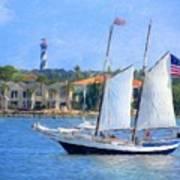 Sailing In St. Augustine Art Print