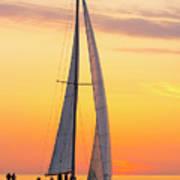 Sailing In Art Print