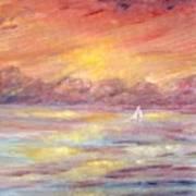 Sailing Into The Sun Art Print